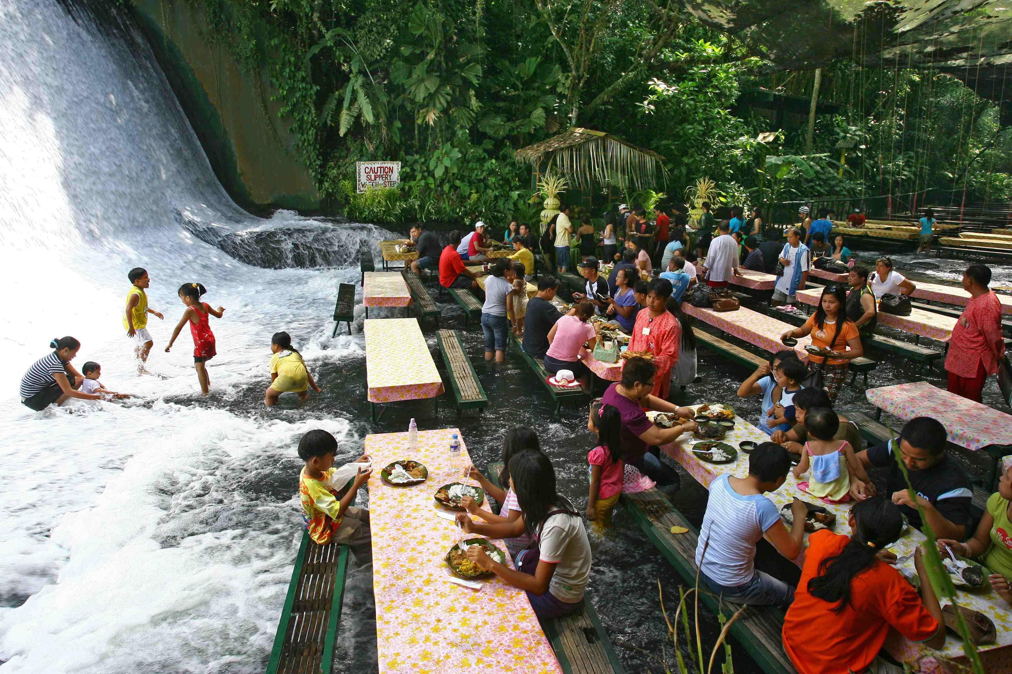 Unique Restaurants Around The World: Labassin Waterfall Restaurant
