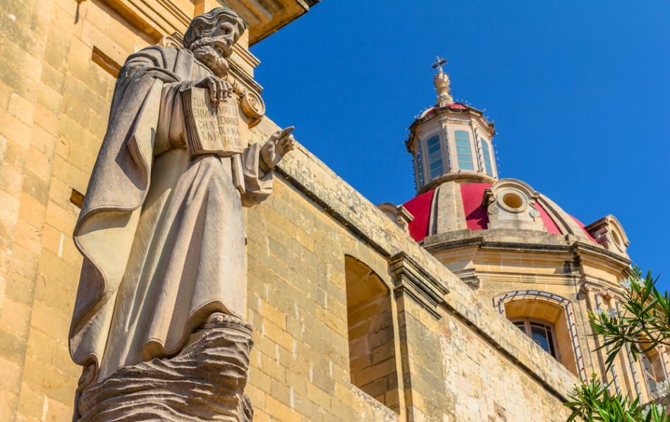 Parish church in St. Margaret In Antioch, Malta| Travel islands in Mediterranean Sea